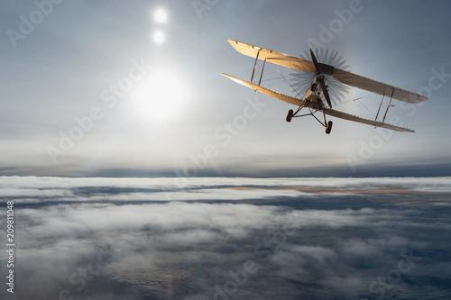 stary-samolot-na-niebieskim-ni