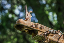 Rusty Old Boat Trailer Hitch