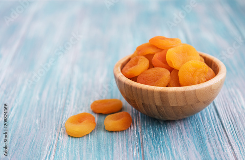 Dried apricots on a table Canvas Print