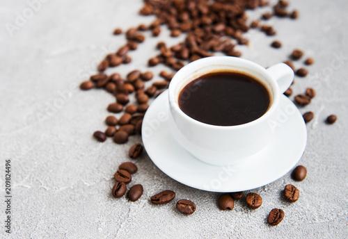 Poster Café en grains Cup of coffee