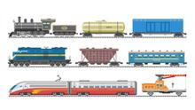 Train Vector Railway Transport...