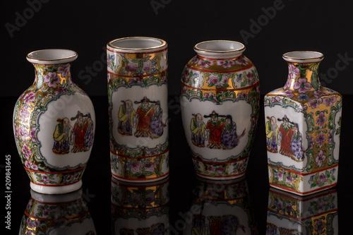Printed kitchen splashbacks Spices Chinese Vases