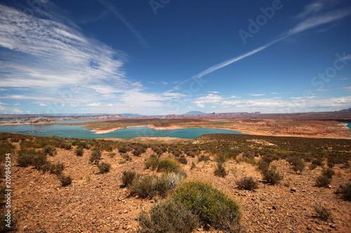 Poster Turquoise Lac Powell, entre Arizona et Utah