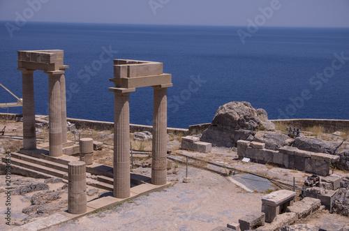 Fotografia  Lindos, Grecja - akropol i zamek