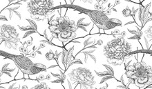 Seamless Pattern With Exotic B...