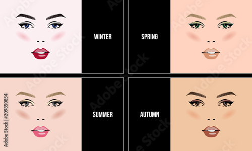 Face Makeup Set Seasonal Color Types