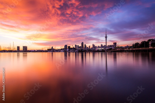 Auckland city sunrise Canvas Print