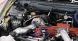 Close up of a race car engine