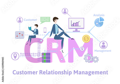 Carta da parati CRM, customer relationship management