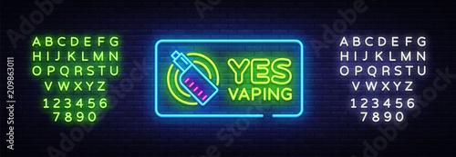 Fotomural Yes Vaping neon sign