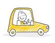Strichfiguren / Strichmännchen: Auto. (Nr. 242)