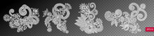 Set Of Four Paisley Flower Des...