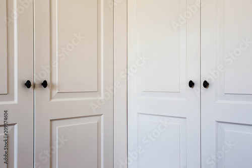 Double Closet Doors Interior Design Modern White Close Up Buy This