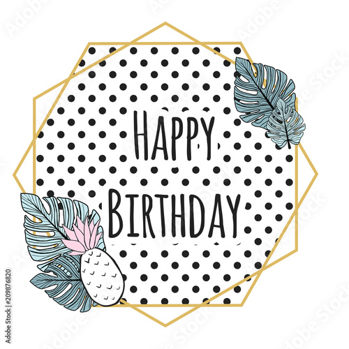 Staande foto Retro sign cute birthday card