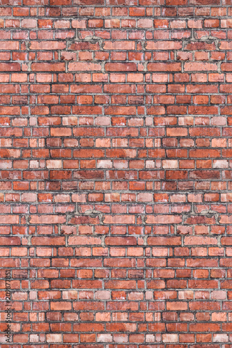Foto op Aluminium Wand old brick large wall seamless background
