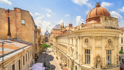 Photo sur Toile Europe Centrale Bucharest Old Town Sunny Summer Day - Romania