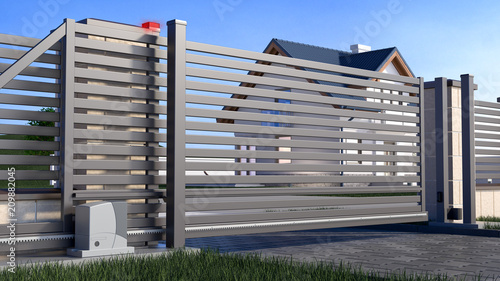 Foto  Automatic Sliding Gate and house