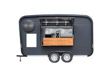 Black Trailer Food Truck Isola...