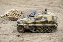 Sd.Kfz 251 Model With Soldier