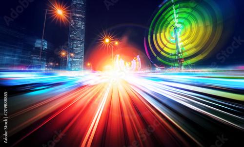 In de dag Aziatische Plekken Abstract motion speed city