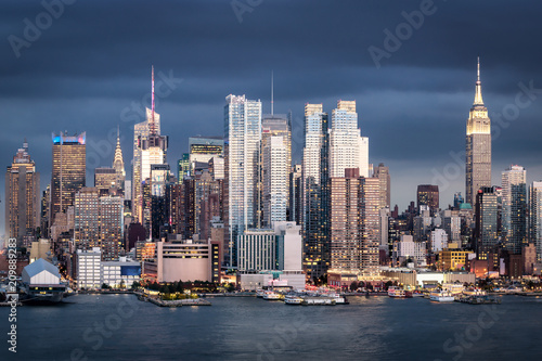Staande foto New York City Manhattan skyline in New York City, USA
