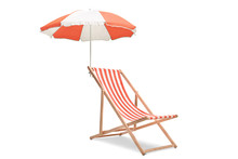 Deck Chair With An Umbrella