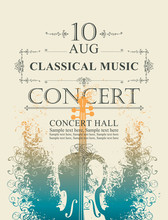 Vector Poster For A Concert Of...
