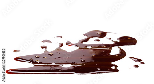 Carta da parati old engine oil spill and splash isolated on white background, texture