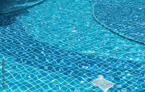 Fotobehang - water in swimming pool texture
