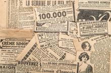 Newspaper Pieces Vintage Advertising Old Magazine Strips