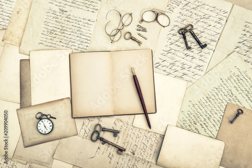 Old Letters Postcards Open Journal Used Paper Background Buy This Stock Photo And Explore Similar Images At Adobe Stock Adobe Stock