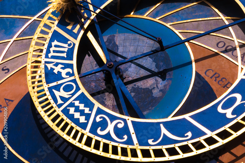 Staande foto Praag Deatail of the Prague Astronomical Clock's Dial