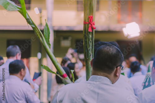 Fotografie, Obraz  Thai wedding tradition, Procession of the groom's parents.
