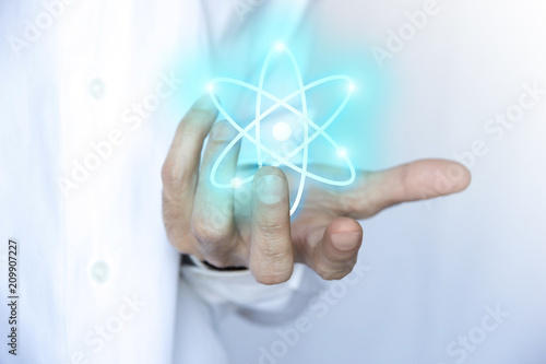 mano, palmo, atomo, nucleare, particelle