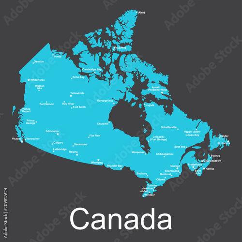 Map Wallpaper Murals Gallery - Canada wall murals.