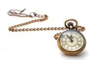 Watch Necklace On White Backgr...