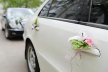 Decorated Car On Wedding