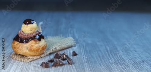 Fotografie, Obraz  religieuse au chocolat, pâtisserie