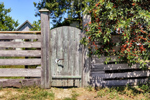 Wooden Gate And Fence In A Vil...