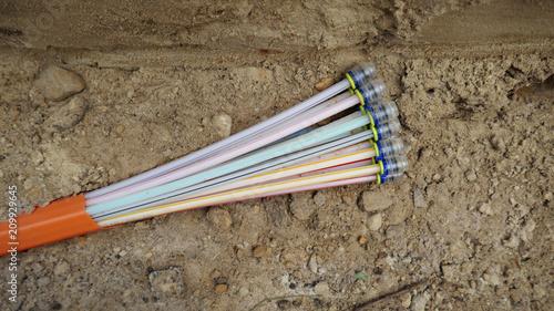 Neu verlegte Glasfaserkabel