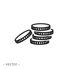 Coin Icon Vector