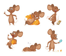 Various Characters Of Mice In ...
