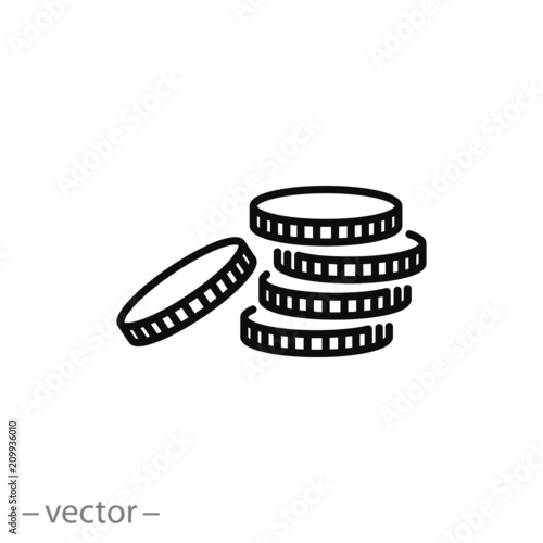 Fototapeta coin icon vector obraz