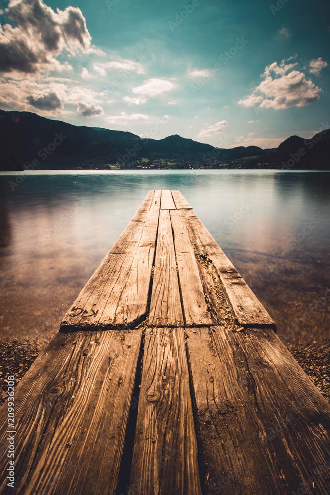 Fototapeta Ruhige Stimmung am See an einem sonningen Sommertag