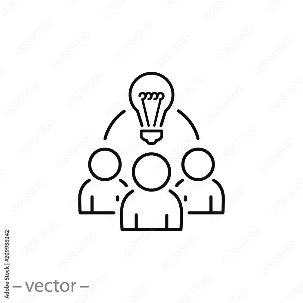 Fototapeta Collaboration idea icon vector