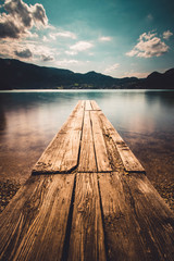 Ruhige Stimmung am See an einem sonningen Sommertag