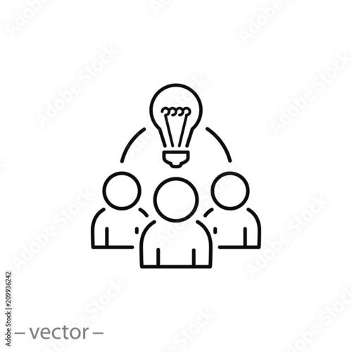 Valokuvatapetti Collaboration idea icon vector
