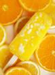 Homemade orange and lemon popsicle