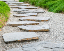 Simple Flat Stone Pathway On G...