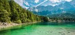 Leinwandbild Motiv Scenic Bavarian Lake Eibsee